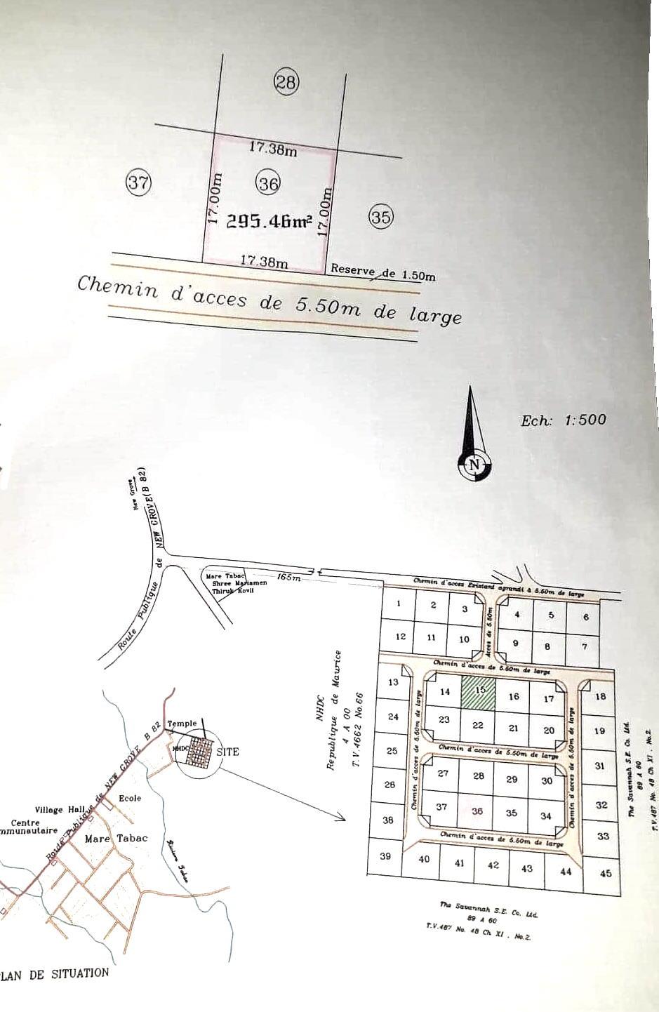 Residencialland for sale atRose Belle, Morcellement Mare Tabac.